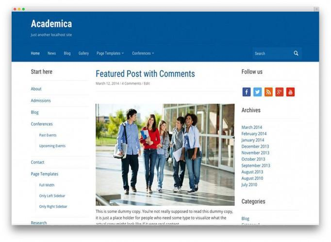 25+ Awesome Premium and Free Education WordPress Themes For School ...