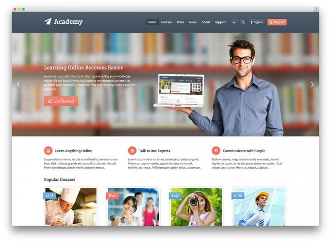 25 awesome premium and free education wordpress themes for Interior health employee website