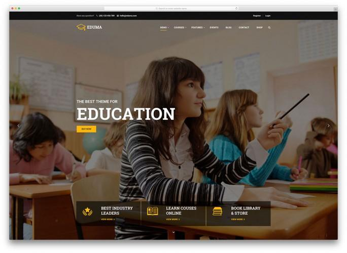 25 Awesome Premium And Free Education Wordpress Themes