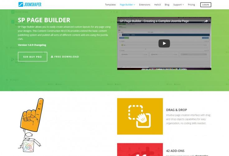 SP Page Builder Joomla