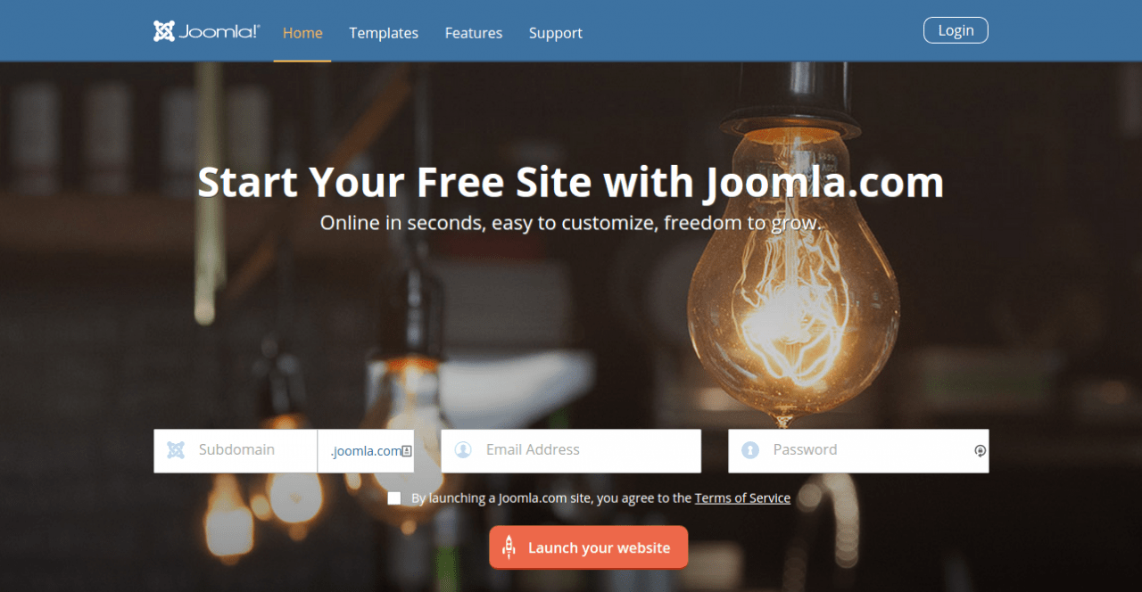 Good News: Create Your FREE Joomla Hosted Website in 30 Seconds
