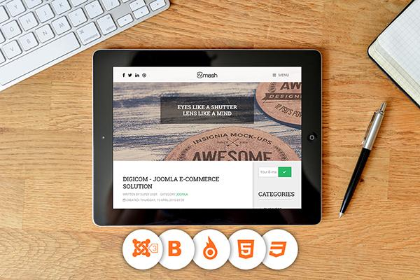 Meet Zmash The Free Blogging Template For Joomla