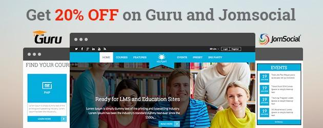 Get 20% off on Guru and JomSocial