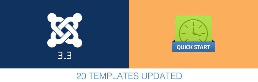 20 Templates Updated to Joomla 3.3
