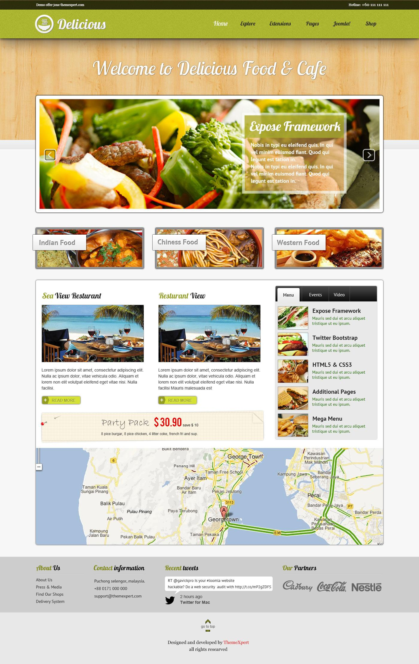[Preview] Delicious - Restaurant e-commerce template