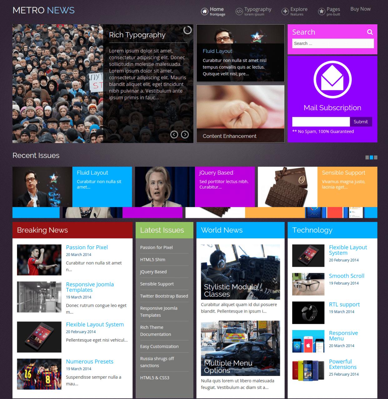Best Joomla Templates October 2015