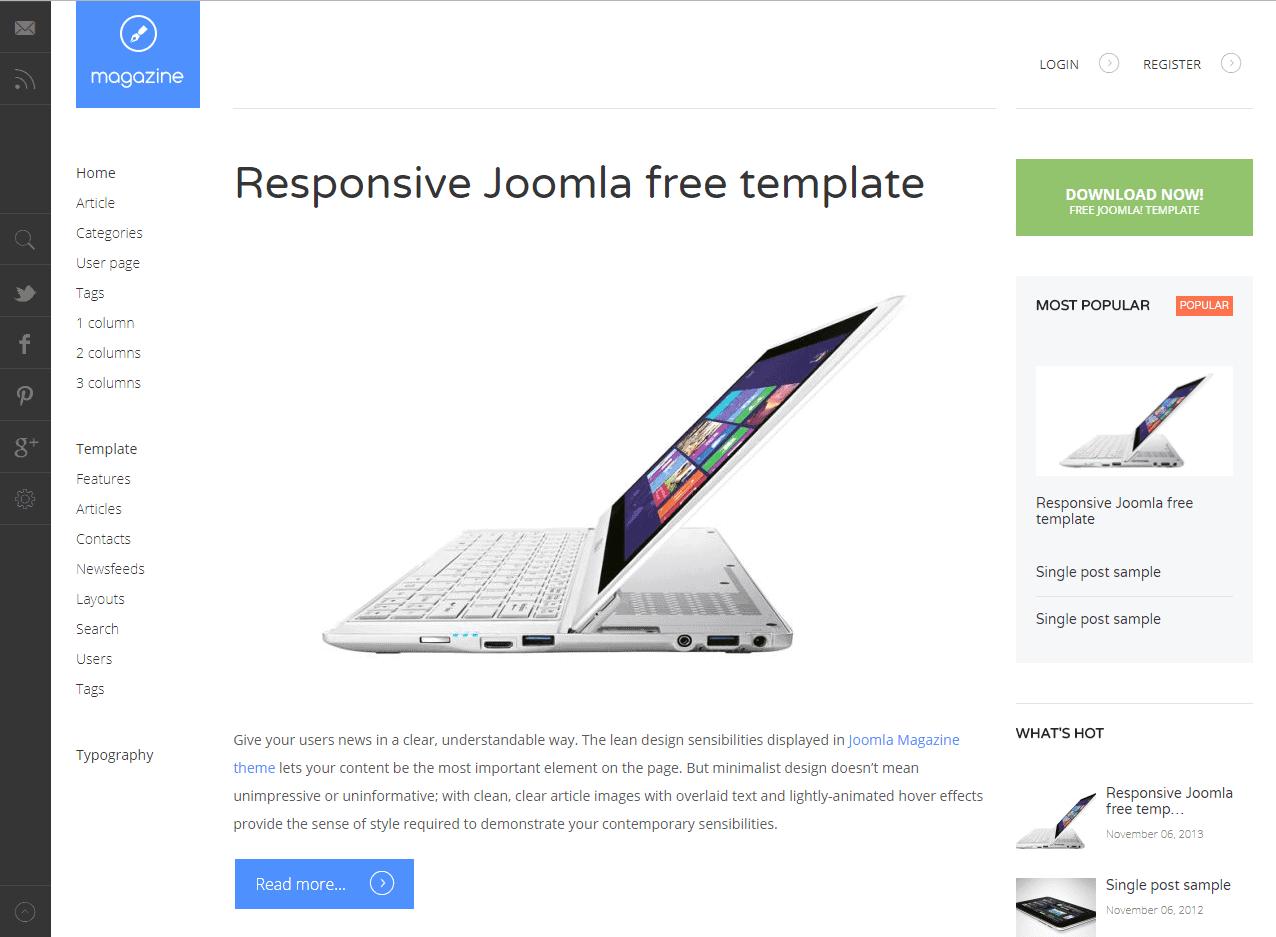 10+ Best Free Responsive Joomla! Templates 2018