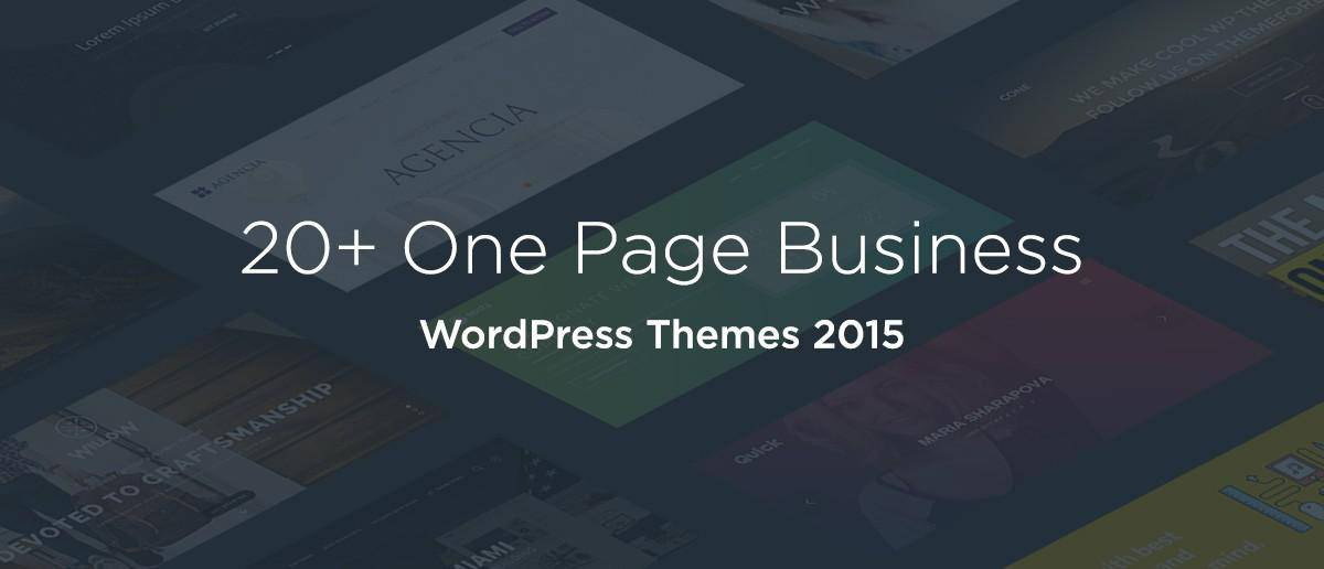 20+ One Page Business WordPress Themes 2015