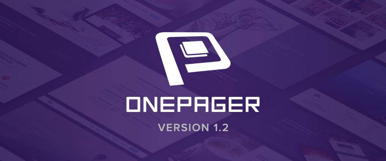 OnePager  v1.2 is Released - Shortcode Support, UX Improvement & Bug Fixes