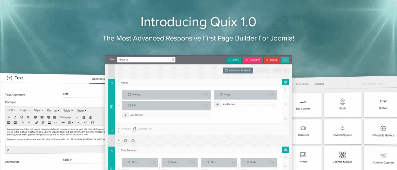 Introducing Quix 1.0 - Next Generation Page Builder for Joomla is Here!