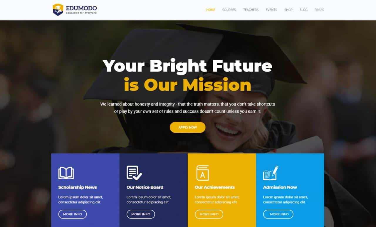 25+ Awesome Premium and Free Education WordPress Themes For