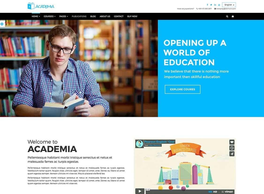 Тема для системы управления обучением в WordPress