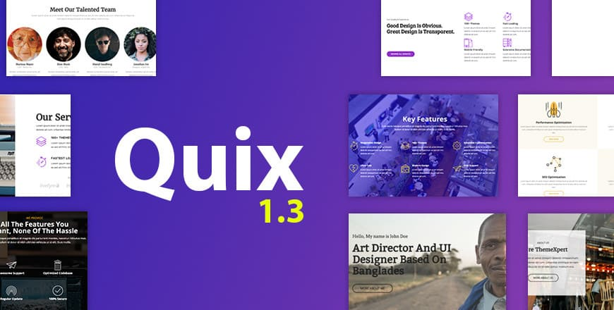 Quix 1.3 Released - Make Joomla Great Again!