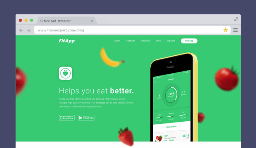 FitApp PSD Template