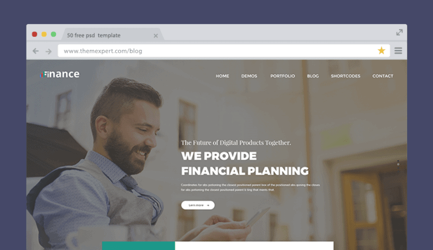 50 free psd website templates for corporate education lms blog finance is a premium quality high res psd template that is suitable for your business organization website its pixel perfect layered design make itself friedricerecipe Images