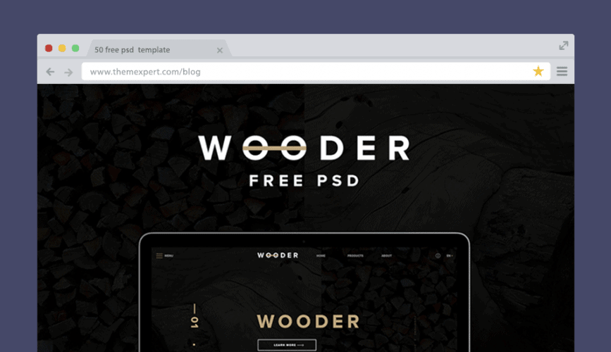 WOODER - Free PSD Template