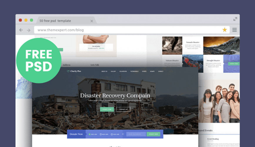Charity Theme, Free PSD