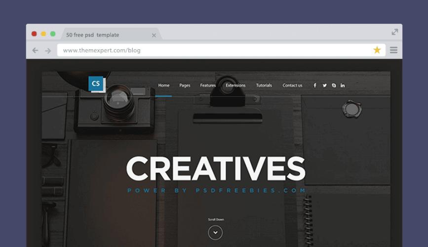 Creative Digital Agency Website Template Free PSD