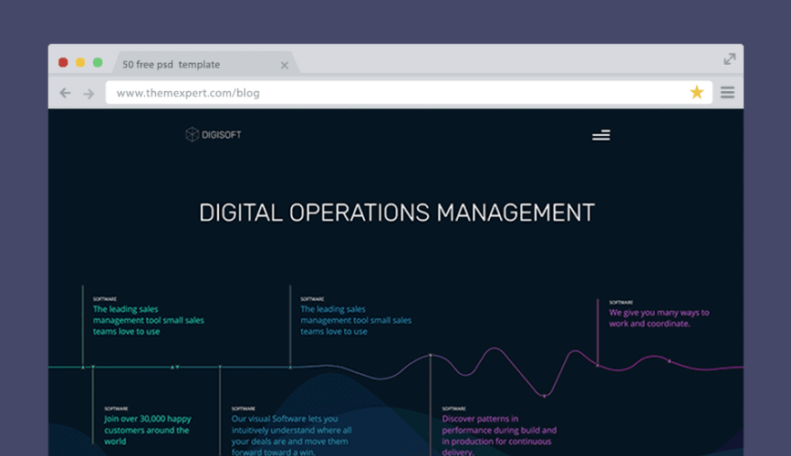 Digital Software management Website Design