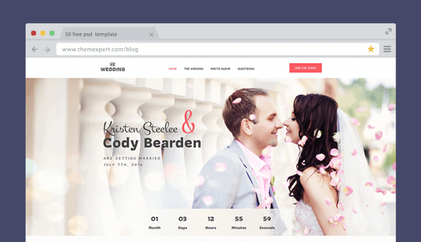 Wedding - Free PSD for Marriage Ceremony