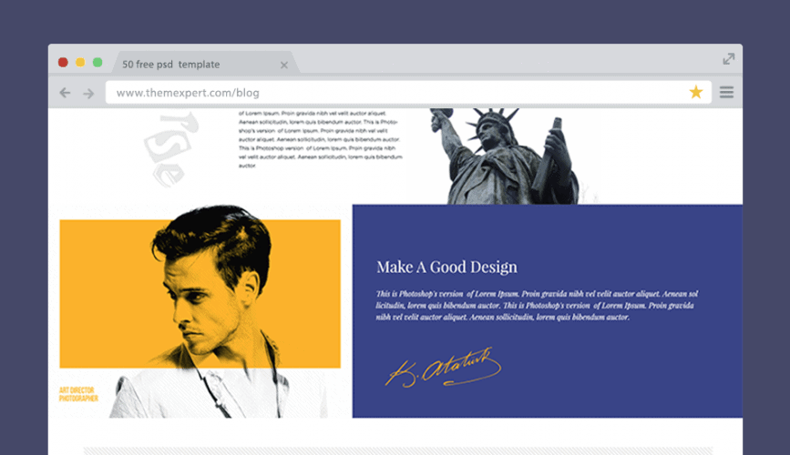 50 free psd website templates for corporate education lms blog this template might be a perfect solution for your business organization or startup creative agency free psd template designed almost all users wajeb Choice Image