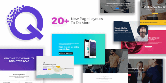 Get 7 Free and 13 Pro Page Layouts For Quix - Agency, Business, Law Firm, Creative Landing Pages & More