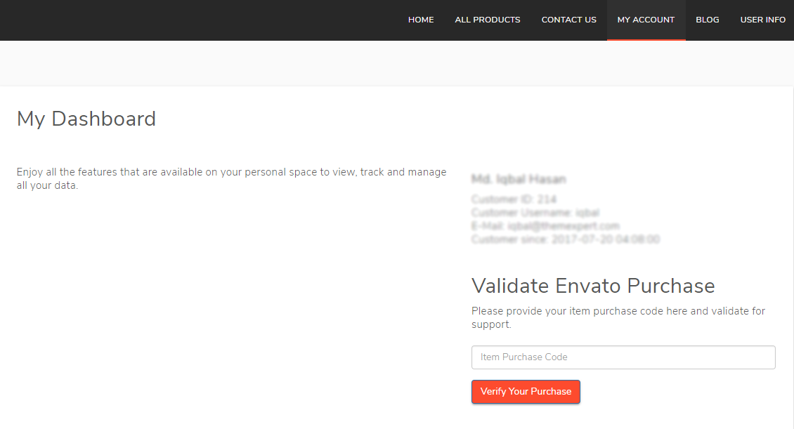 Let the User Validate his Envato Purchase