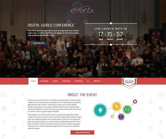 event website template