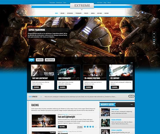 Extreme - Responsive Gaming / News Template for Joomla - ThemeXpert