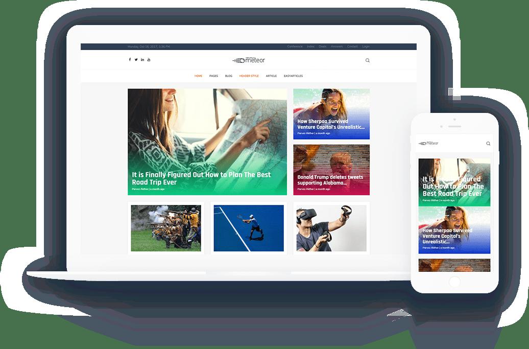 MeteorPremium Joomla Magazine Template For News And Magazine - Venture capital website template