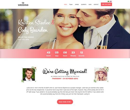 Wedding Joomla Template
