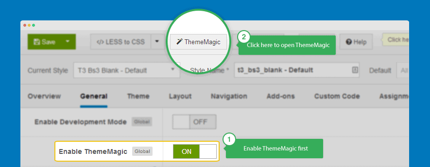 Theme Magic Option