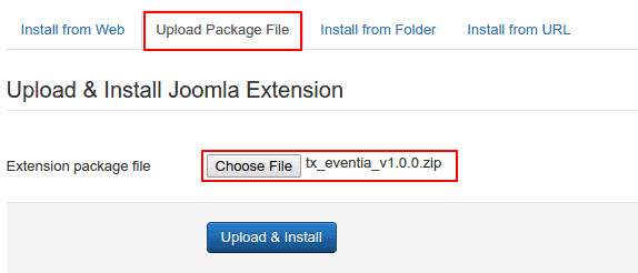 How to install a joomla template themexpert if the package contains no errors you are done and get a success message like the one below maxwellsz