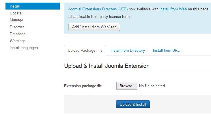 Joomla Template/Extension installation