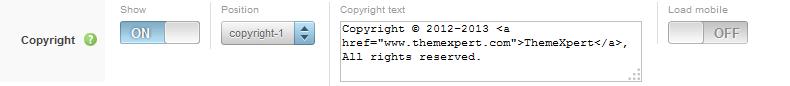Expose copyright settings