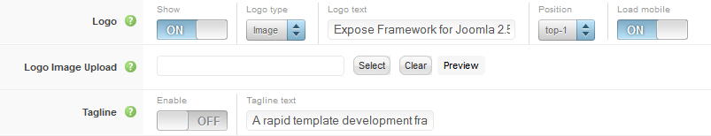 Expose logo settings