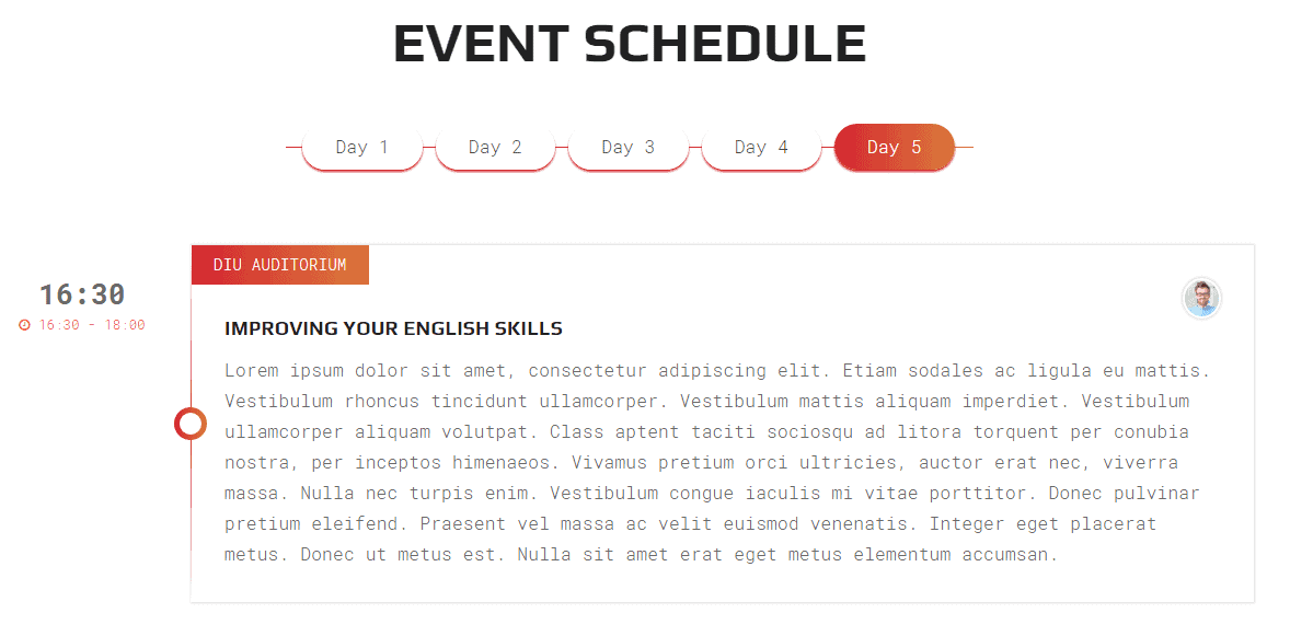 Expert Event Front-end