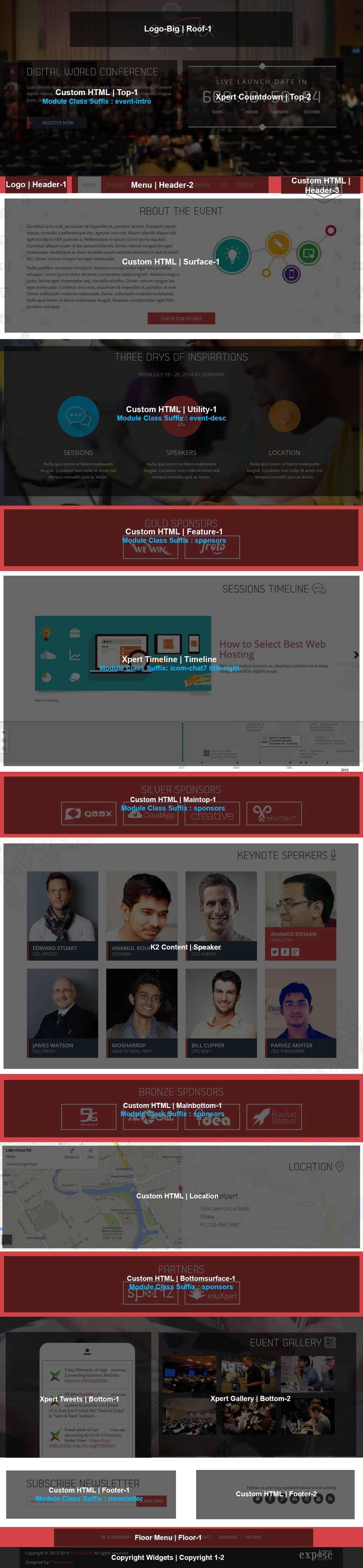 EventX Homepage