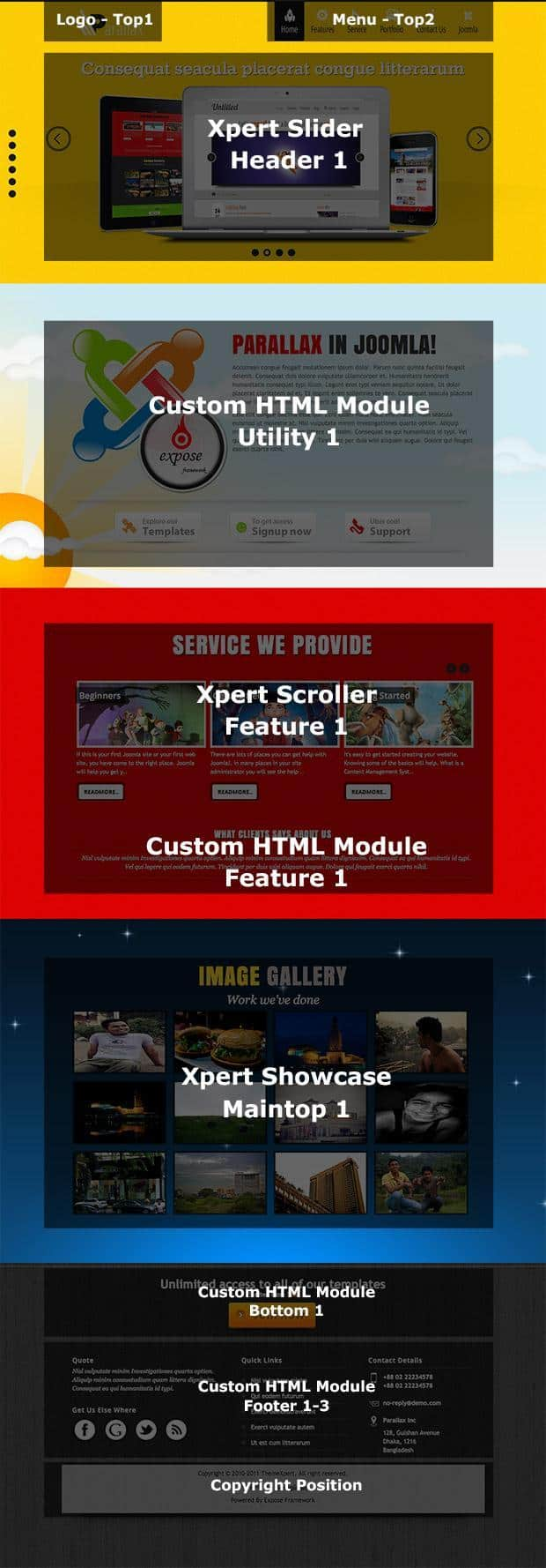 Parallax homepage