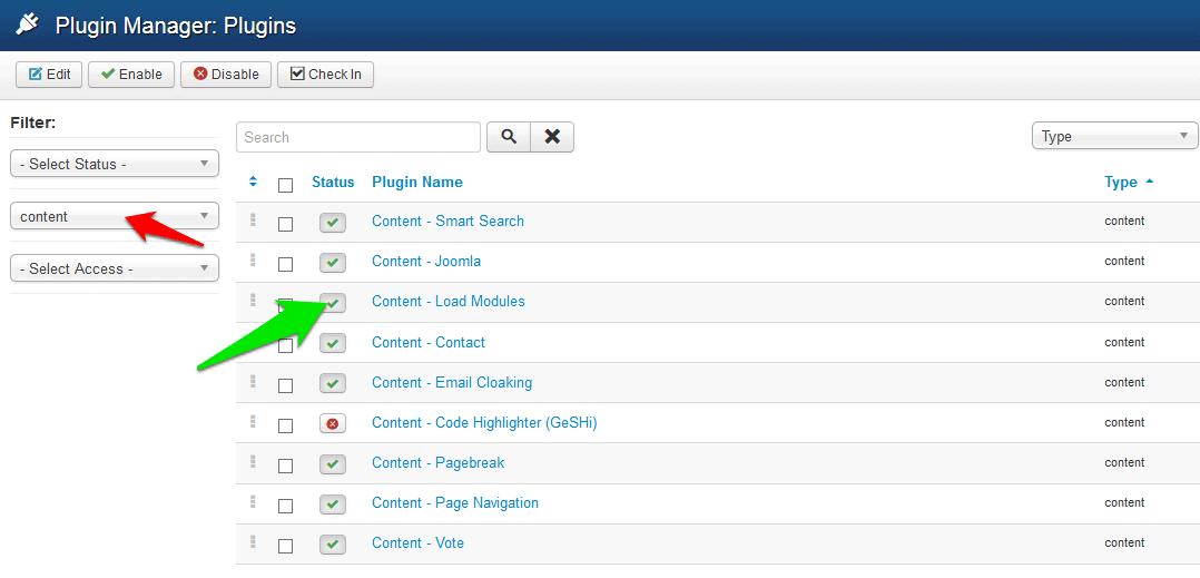 Load modules plugin