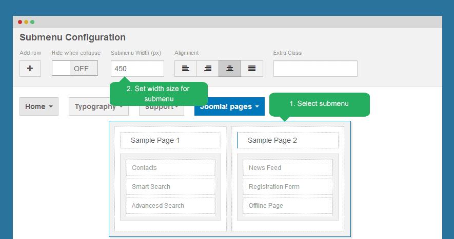 Template Settings panel - ThemeXpert