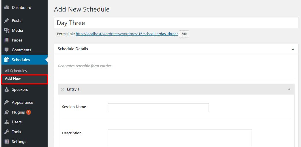 Adding Schedule
