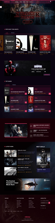 Moviez Homepage