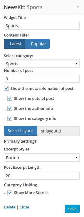 MainContent widgets