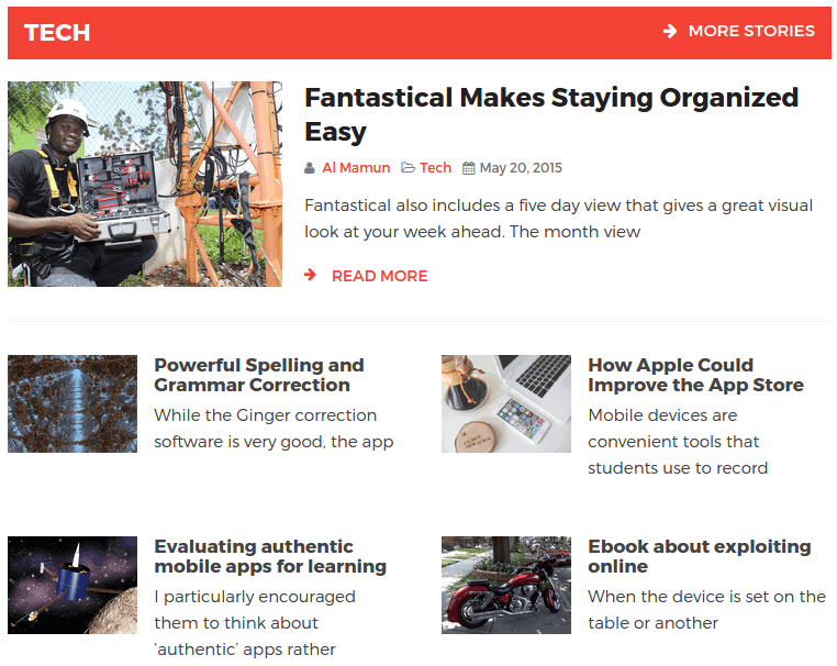 NewsKit Static Layout 01 Frontend