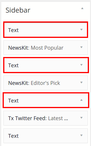 Sidebar Ads widget